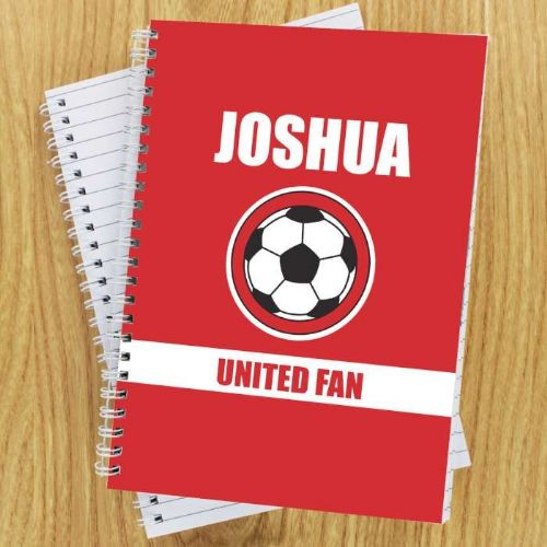 Red Football Fan A5 Notebook